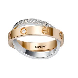カルティエ(Cartier)のカルティエ LOVE リング、パヴェダイヤモンド(リング(指輪))