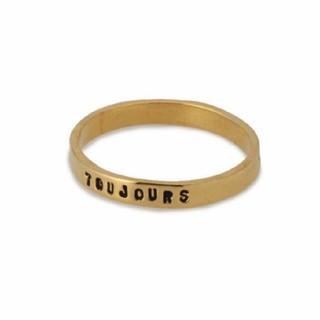 アッシュペーフランス(H.P.FRANCE)のSERGE THORAVAL/リング TOUJOURS(いつも) 9号(リング(指輪))