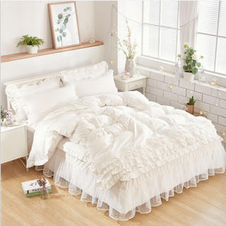 ベッドスカート 掛け布団カバー 四季通用 寝具セットカバー シングル 3点セット