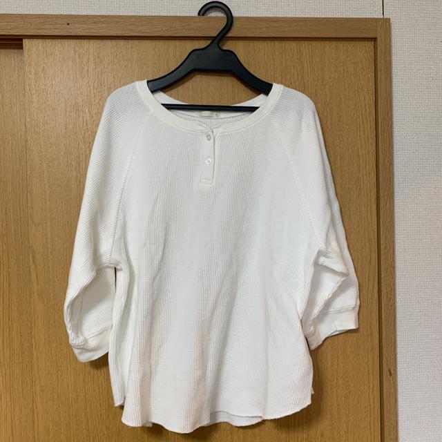 GU(ジーユー)のヘンリーネックワッフルT レディースのトップス(Tシャツ(長袖/七分))の商品写真