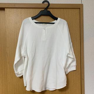ジーユー(GU)のヘンリーネックワッフルT(Tシャツ(長袖/七分))