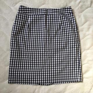 ナチュラルビューティーベーシック(NATURAL BEAUTY BASIC)のギンガムチェック タイトスカート (ひざ丈スカート)