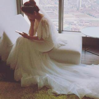 878c8a04963e1 ウエディングドレス ホワイト マーメイドライン 繊細レース 優雅なシルエット 結(ウェディングドレス)