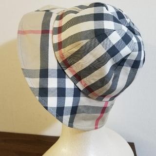 バーバリー(BURBERRY)のバーバリーキッズ帽子 バーバリーロンドン ベージュ リバーシブル 55 (帽子)
