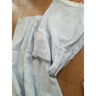 ミラオーウェン(Mila Owen)のミラオーウェン♡麻ストライプセットアップ♡スカート(セット/コーデ)
