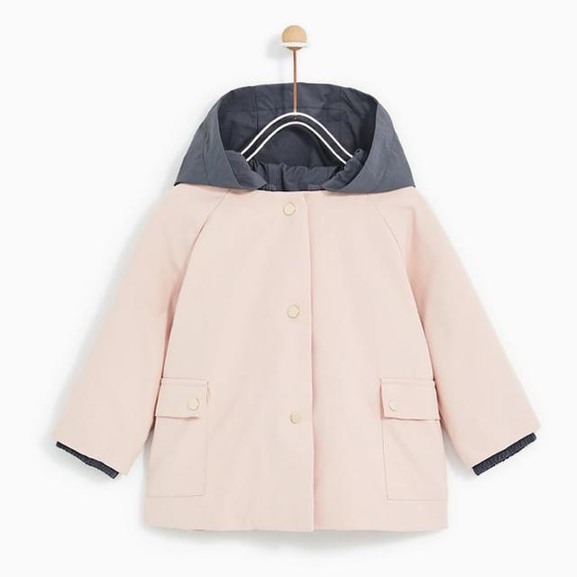 ZARA KIDS(ザラキッズ)のZARAbaby ザラベビー ザラベイビー 薄中綿入りコート 104 キッズ/ベビー/マタニティのキッズ服 女の子用(90cm~)(ジャケット/上着)の商品写真