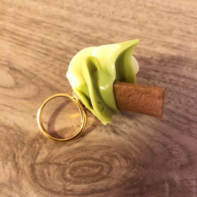 Q-pot.(キューポット)の【新品/送料無料】限定品 キューポット 抹茶ホイップ リング 八ツ橋 レディースのアクセサリー(リング(指輪))の商品写真