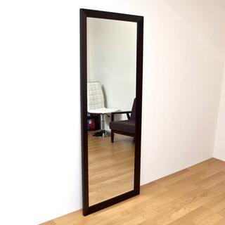 オシャレな 大きい 姿見 ジャンボミラー 鏡 シンプル かわいい ブラウン