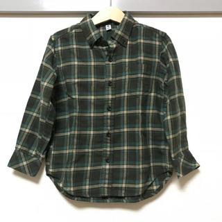 fa061949666c7 ユニクロ(UNIQLO)のUNIQLO ユニクロ キッズ 子供 シャツ ネルシャツ チェックシャツ 110(ブラウス