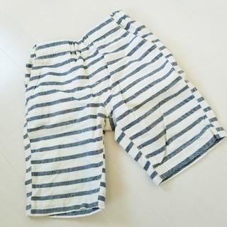 ジーユー(GU)のハーフパンツ ジーユー 120 男の子 半ズボン 短パン ボーダー 白 青(パンツ/スパッツ)