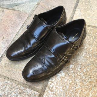 ザラ(ZARA)のzara ザラ マニッシュシューズ スリッポン おじ靴 37 23.5(ローファー/革靴)