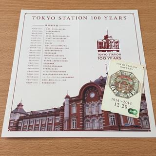 【送料込み】東京駅 開業100周年記念 Suica (スイカ)台紙付