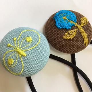 mina perhonen - ミナペルホネン ヘアゴム handmade くるみボタン セット ②