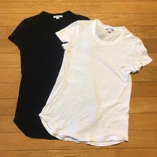 ドゥロワー(Drawer)のJAMES PERSE 定番 カットソー 白&黒(Tシャツ(半袖/袖なし))
