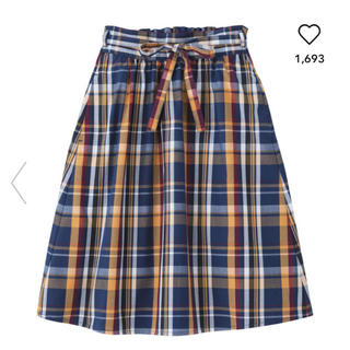 ジーユー(GU)のGU チェックスカート(スカート)