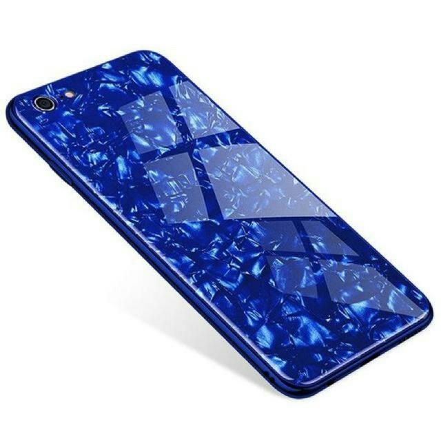 大理石柄 クリスタル シェル ケース iPhone8/7 ブルーの通販 by TKストアー |ラクマ
