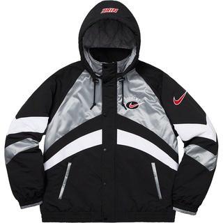 シュプリーム(Supreme)のSupreme Nike Hooded Sport Jacket 銀 S(ライダースジャケット)