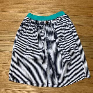 ブリーズ(BREEZE)のBREEZE デニム ストライプ スカート 130センチ(スカート)