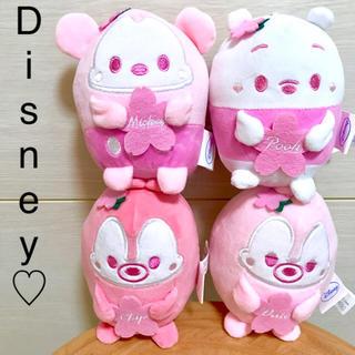 Disney - ディズニー桜カラー マスコット ぬいぐるみ ピンク