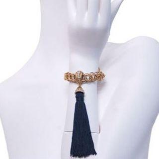 クリスチャンディオール(Christian Dior)のChristian Dior ディオール ブレス ヴィンテージ フリンジ レア(ブレスレット/バングル)