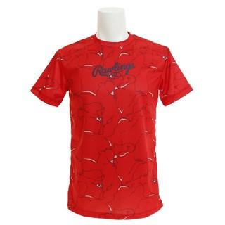 Rawlings - 新品 ローリングス Rawlings ウェア 雲柄 Tシャツ O(LL) 赤