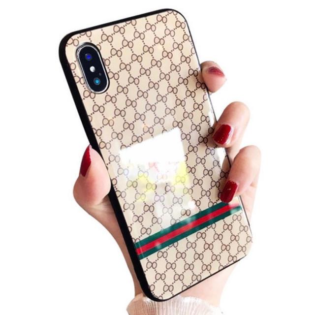 iphone8 ミラー 付き ケース / 大人気!モノグラム iPhoneケース ベージュの通販 by なんでもや's shop|ラクマ