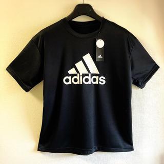 アディダス(adidas)の【新品タグ付き】アディダスロゴTシャツ メッシュ地 トレーニングウェア Mサイズ(Tシャツ/カットソー(半袖/袖なし))