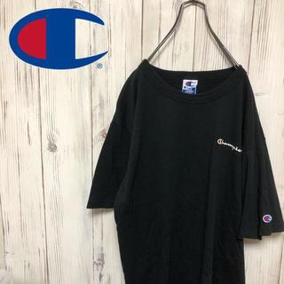 チャンピオン(Champion)の【希少】90s チャンピオンロゴ刺繍&プリント入りTシャツ(Tシャツ/カットソー(半袖/袖なし))