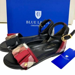バーバリーブルーレーベル(BURBERRY BLUE LABEL)のBLUE LABEL ブルーレーベル ハウスチェック フリルサンダル(サンダル)