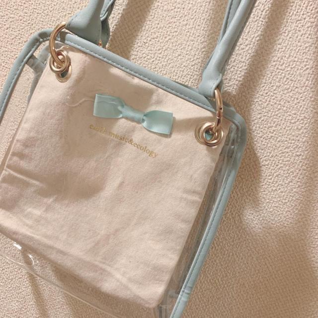 earth music & ecology(アースミュージックアンドエコロジー)のearth music&ecology クリアデコバッグ cube レディースのバッグ(トートバッグ)の商品写真