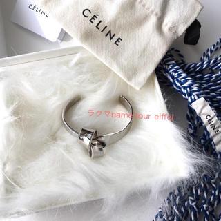 セリーヌ(celine)の値下未使用 セリーヌ CELINE ノットフラットブレスレット S ネットバッグ(ブレスレット/バングル)