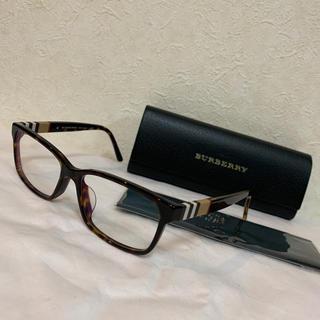バーバリー(BURBERRY)の美品 バーバリー 定番チェック メガネ(サングラス/メガネ)