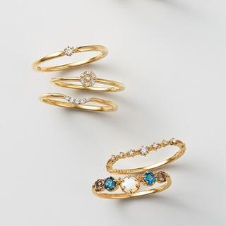 アガット(agete)のagete k10 2.6万 ダイヤモンド ピンキー リング アガット 指輪(リング(指輪))