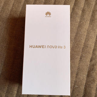 アンドロイド(ANDROID)のHUAWEI nova light 3(新品)(スマートフォン本体)
