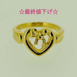 ティファニー(Tiffany & Co.)の☆最終値下げ☆希少☆ティファニー ハート リボン リング K18(リング(指輪))