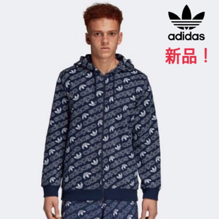 アディダス(adidas)の新品!アディダス adidas モノグラム柄 総柄パーカー DH4782(パーカー)