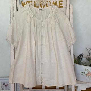 サマンサモスモス(SM2)のSM2 レース衿 包みボタンのブラウス(シャツ/ブラウス(半袖/袖なし))