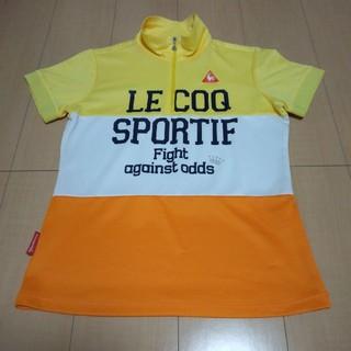 ルコックスポルティフ(le coq sportif)のle coq レディースゴルフウエア sizeL(サンフラワー)(ウエア)