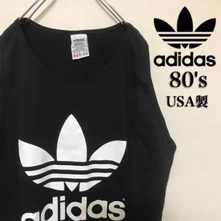 アディダス(adidas)の90's adidas アディダス タンクトップ ビッグロゴ トレフォイル (Tシャツ/カットソー(半袖/袖なし))