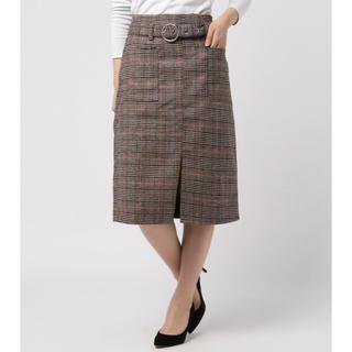 スピーガ(SPIGA)のチェックスカート(ひざ丈スカート)