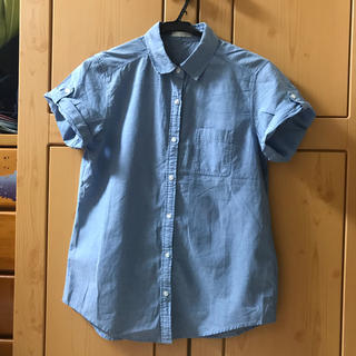 ジーユー(GU)のGU 開襟シャツ シャツ デニムシャツ(シャツ/ブラウス(長袖/七分))