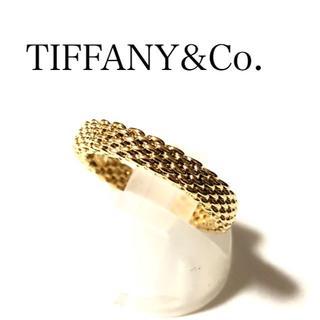 Tiffany & Co. - ティファニー K18YG サマセット リング メッシュ 13号