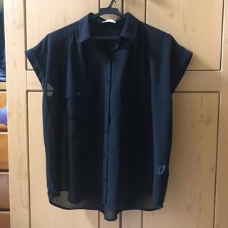 ジーユー(GU)のGU 開襟シャツ シースルーシャツ(シャツ/ブラウス(半袖/袖なし))