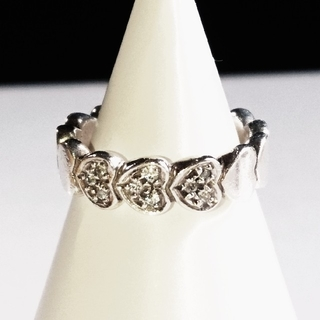 スタージュエリー(STAR JEWELRY)のsilver925刻印有 ハート14連リング 9号 Star Jewelry(リング(指輪))
