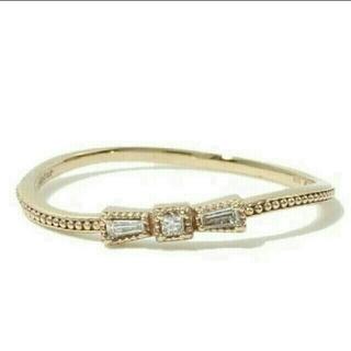 ジュピターゴールドレーベル(jupiter GOLD LABEL)のジュピター タイリング リボンリング jupiter 9号 10k ダイヤモンド(リング(指輪))