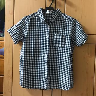 ジーユー(GU)のGU 開襟シャツ チェックシャツ(シャツ/ブラウス(半袖/袖なし))