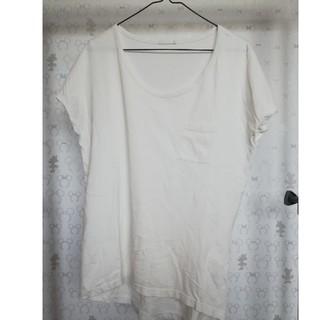 ジーユー(GU)のGU 白 カットソー(カットソー(半袖/袖なし))