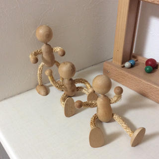 木の人形 3姉妹、3兄弟(知育玩具)