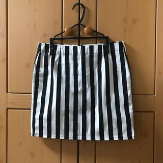 ジーユー(GU)のGU 台形ストライプスカート(ひざ丈スカート)