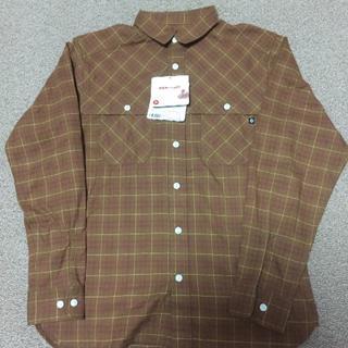 マーモット(MARMOT)の定価14,080円★M★ヘザーチェックシャツ★茶★MJS-F6116(シャツ)